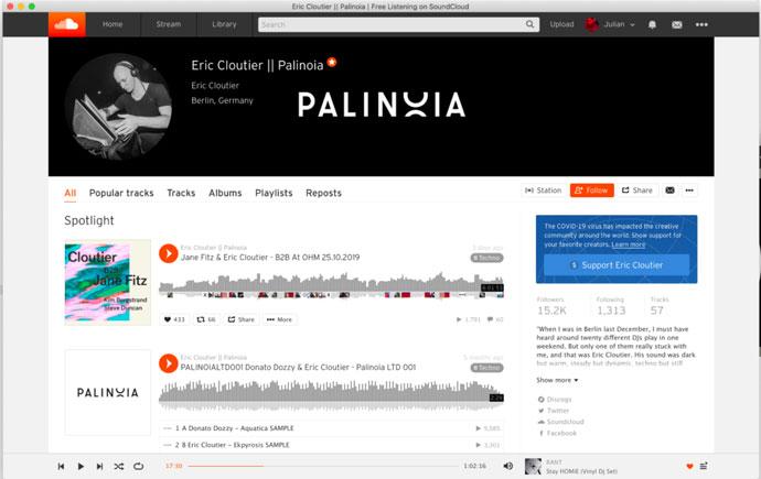 SoundCloud Financial Support Button