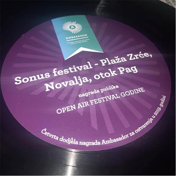 Sonus festival Ambasador nagrada 2019