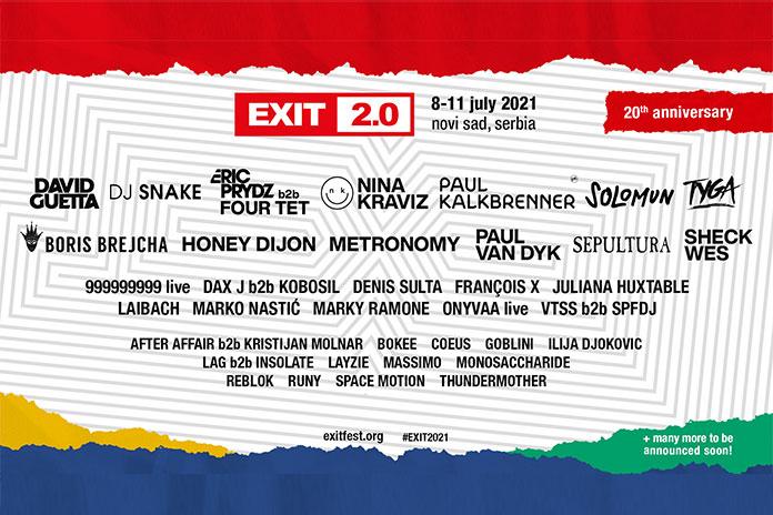 EXIT festival 2021 Line Up