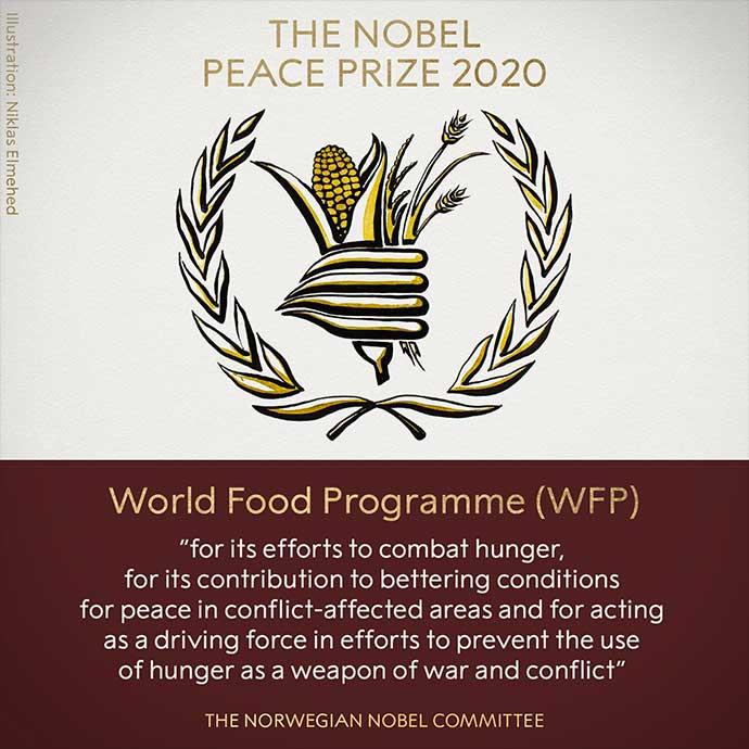 Svetski program za hranu Ujedinjenih nacija Nobelova nagrada