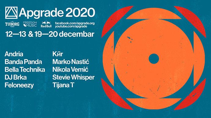Apgrade 2020 online festival line up