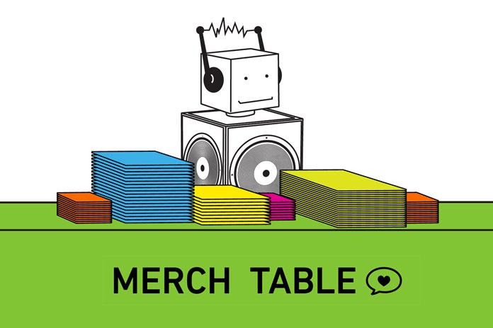 Hype Machine Merch Table