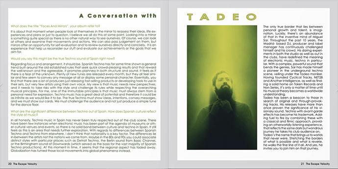 The Escape Velocity Tadeo intervju