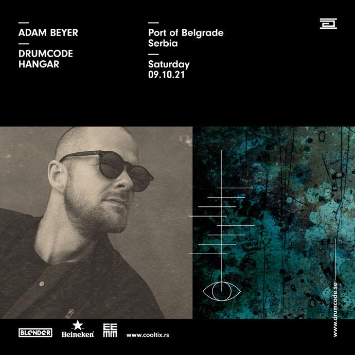 Adam Beyer Drumcode Blender Hangar oktobar 2021