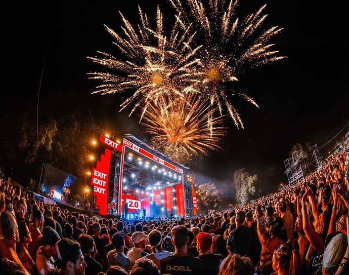EXIT festival 2021 vatromet by Marko Obradovic Edge