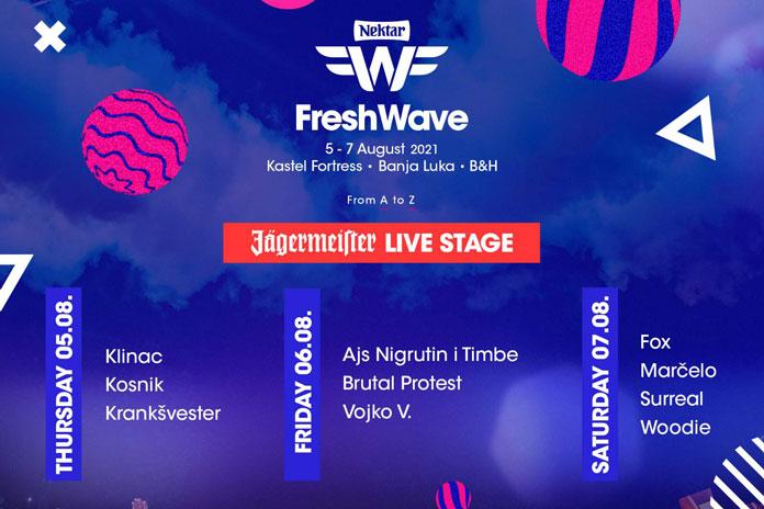 Fresh Wave Festival 2021 Live bina Line Up
