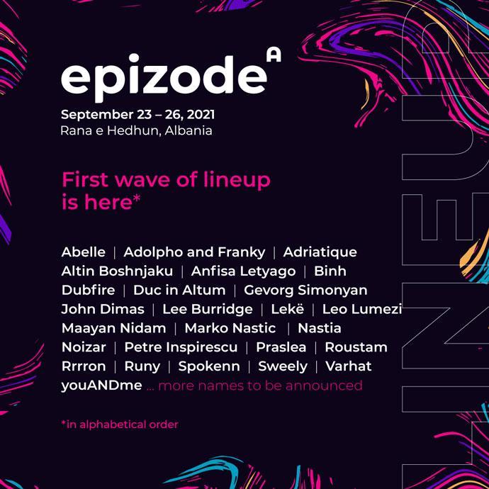 Epizode festival Albania 2021 Line Up