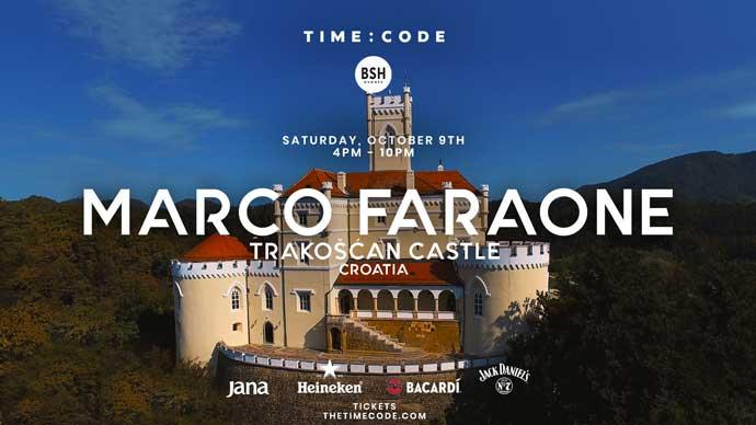 Marco Faraone Time Code BSH Events dvorac Trakoscan
